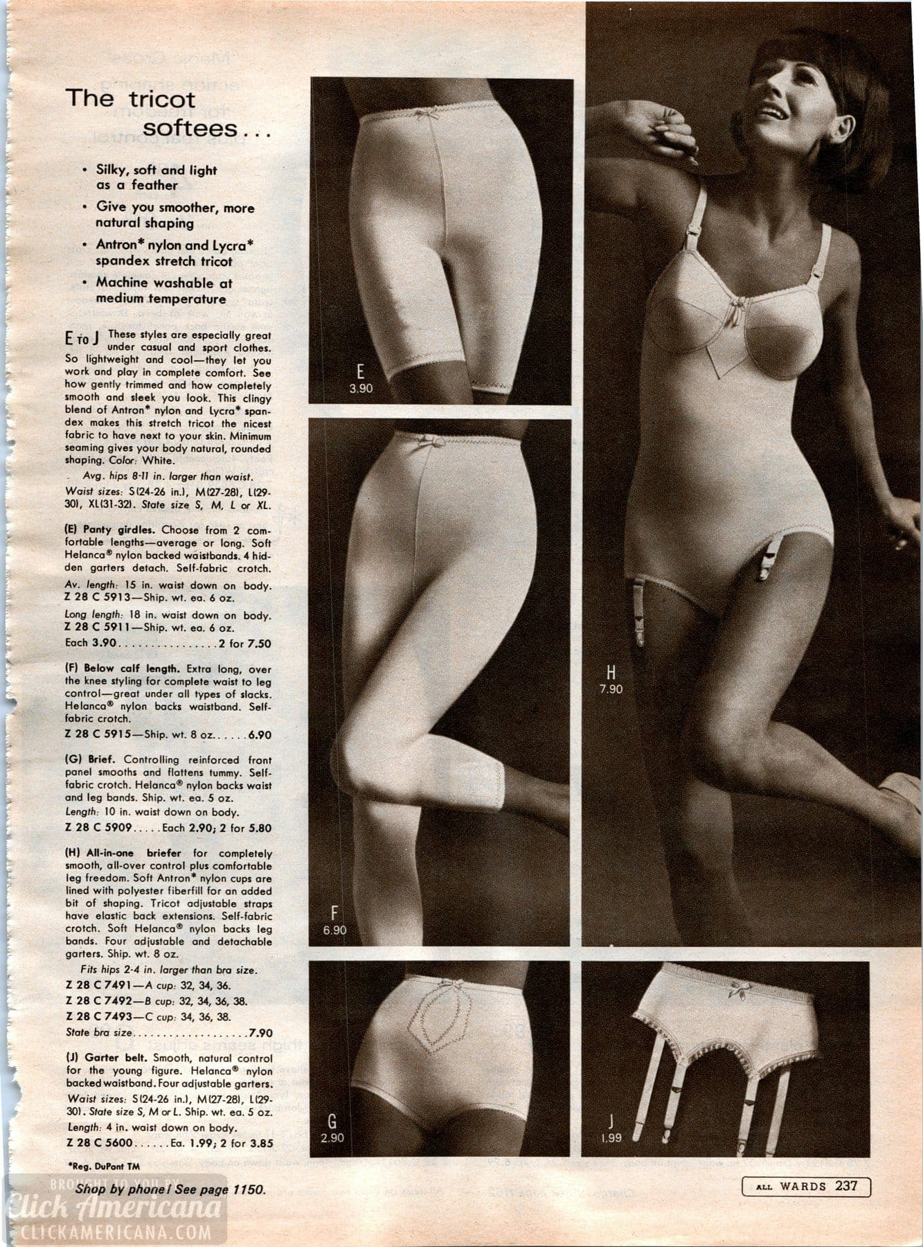 Vintage '60s lingerie - foundation garments and shapers