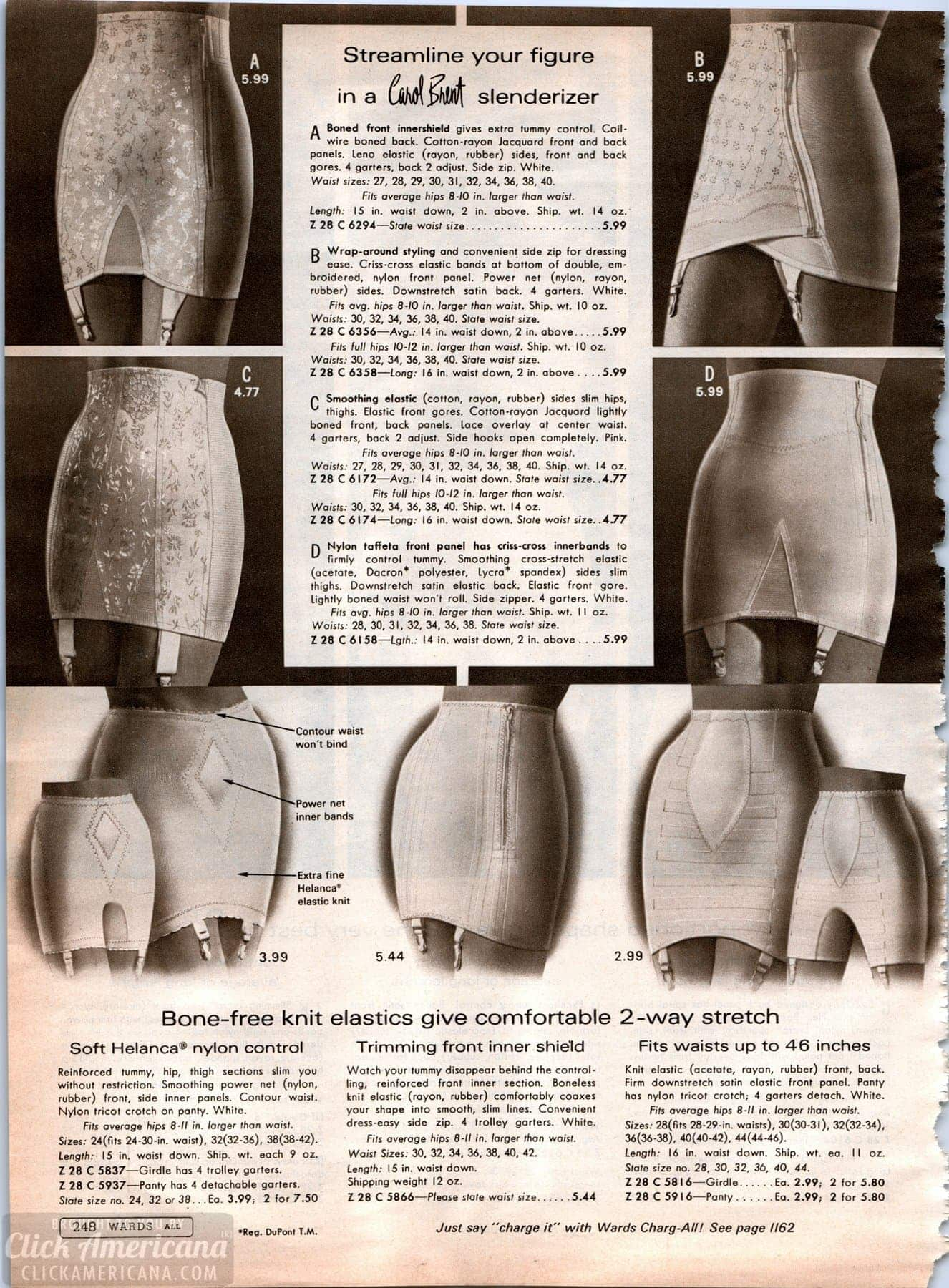 Vintage '60s lingerie - panty girdles from 1968 (4)