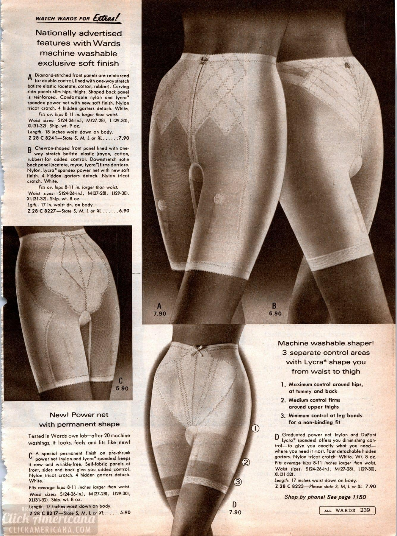 Vintage '60s lingerie - panty girdles from 1968 (6)