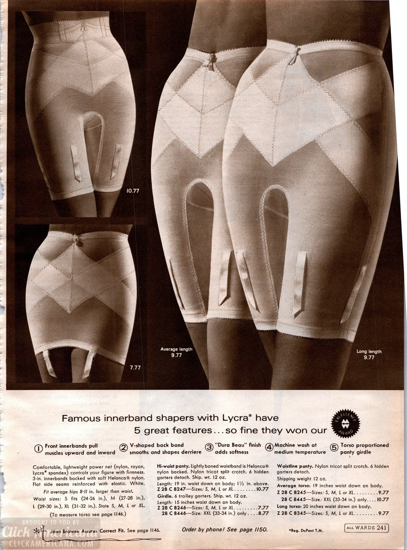 Vintage '60s lingerie - panty girdles from 1968 (8)