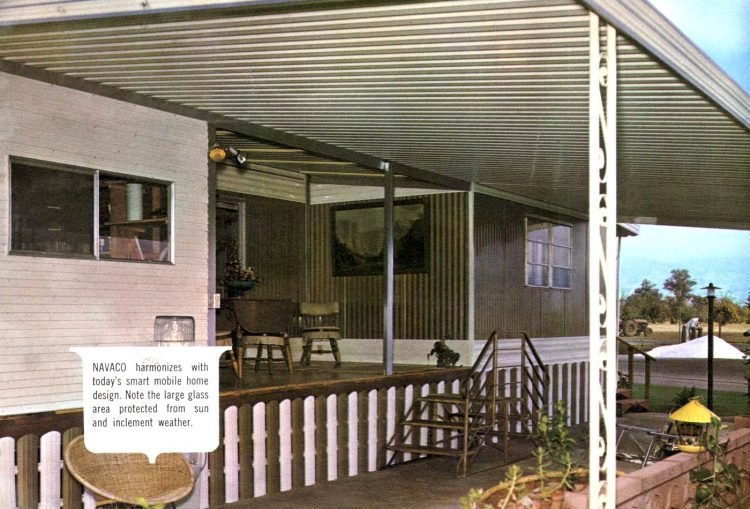 Vintage 60s mobile homes with patio covers (4)
