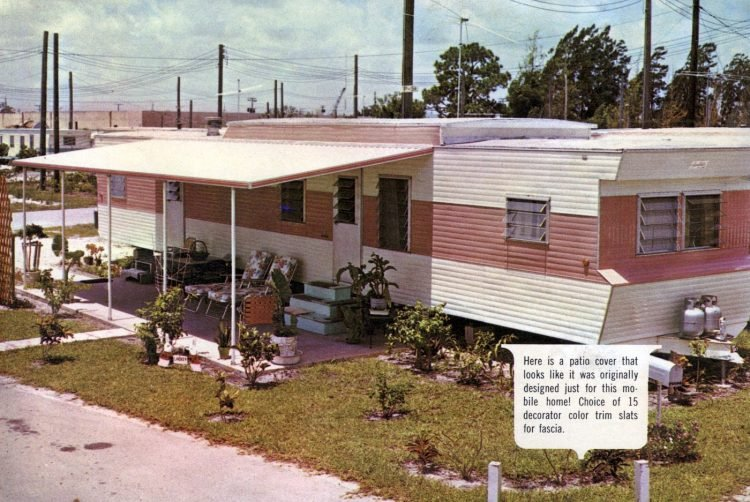 Vintage 60s mobile homes with patio covers (5)