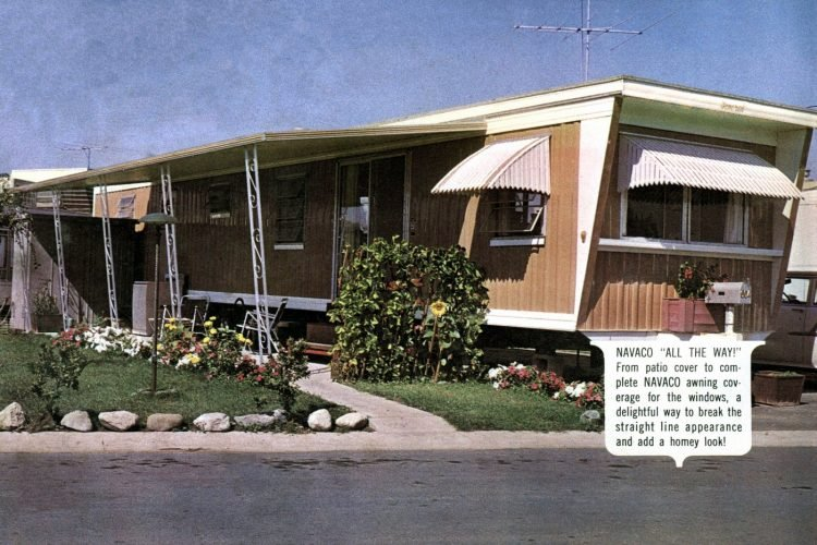 Vintage 60s mobile homes with patio covers (6)