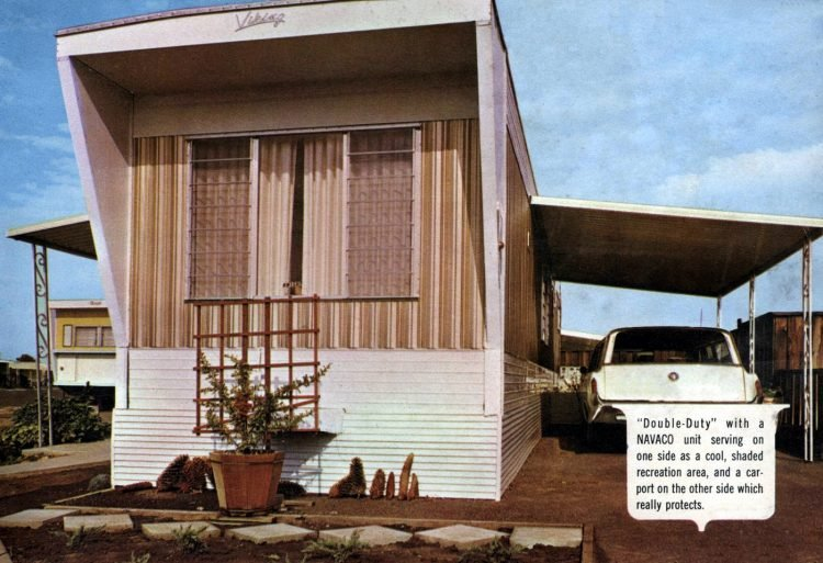 Vintage 60s mobile homes with patio covers (7)