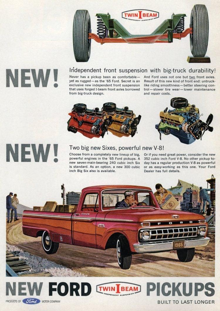 Vintage 65 Ford pickups