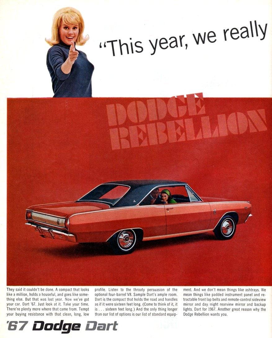 Vintage 67 Dodge Dart cars