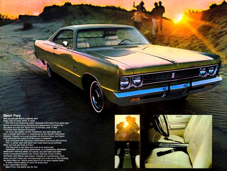 Vintage 69 Plymouth Sport Fury