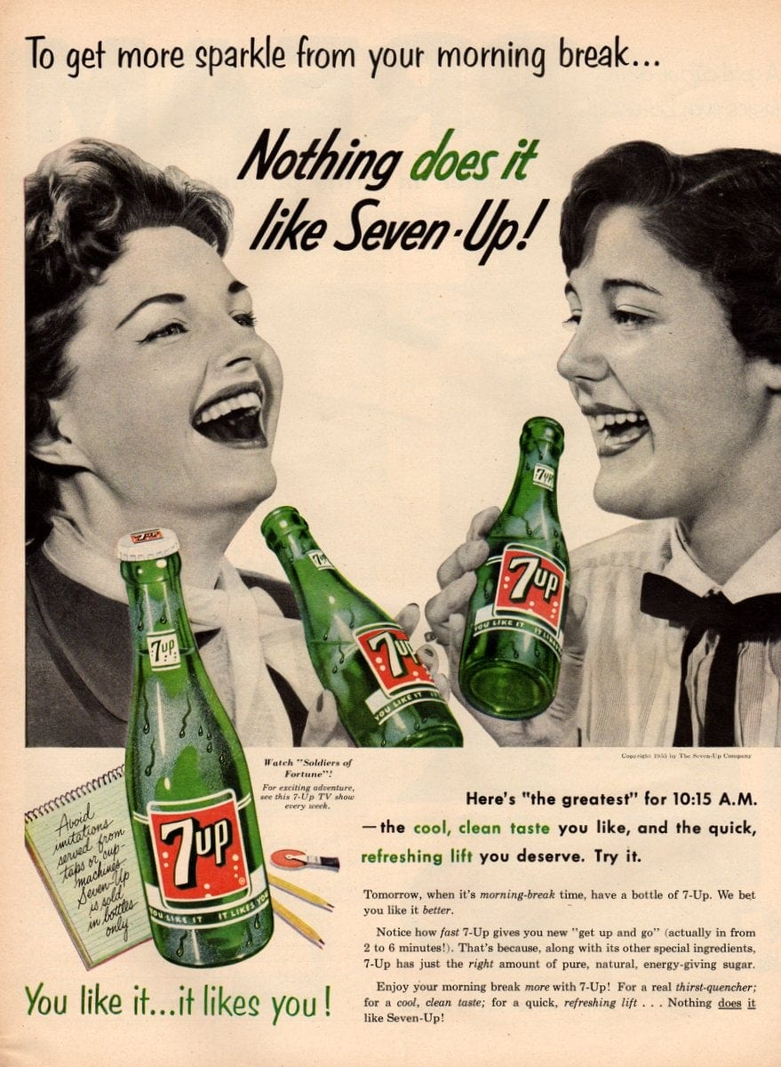 Vintage 7-Up ad from 1955