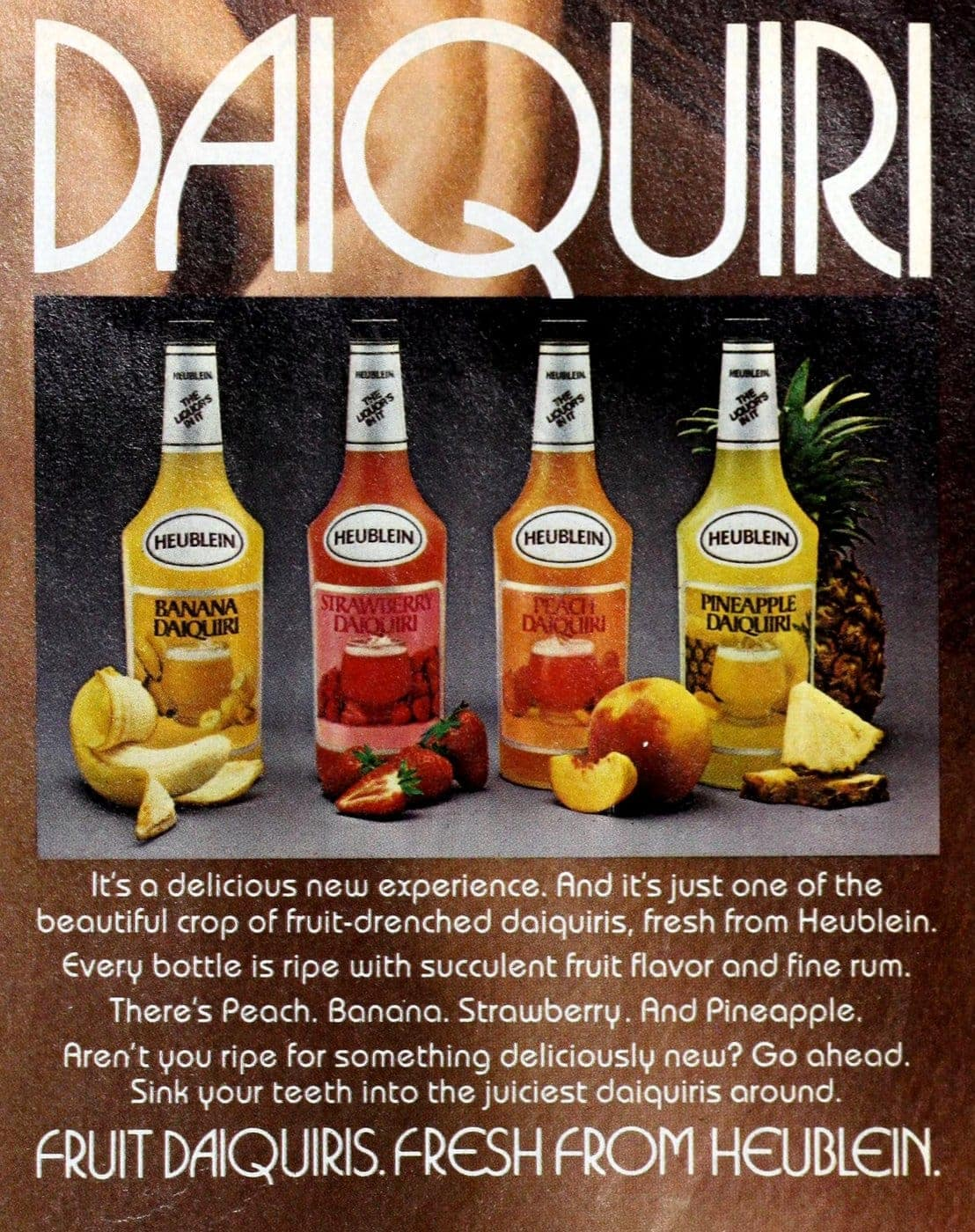 Vintage 70s Heublein fruit daiquiri mix (1977)