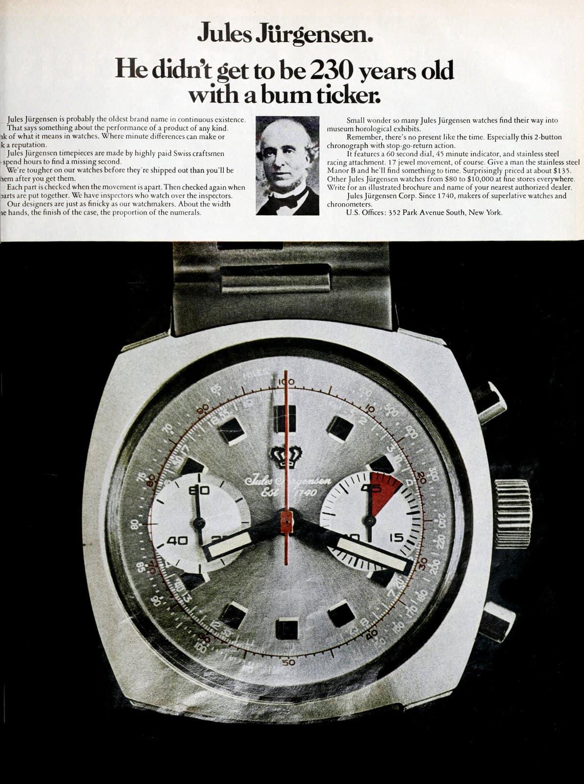 Vintage 70s Jules Jurgensen watches (1970)