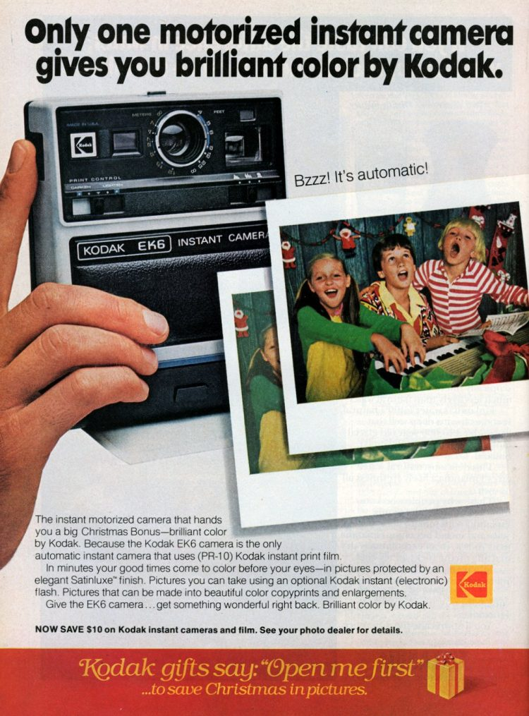 Vintage 70s Kodak EK-6 Instant Camera 1977