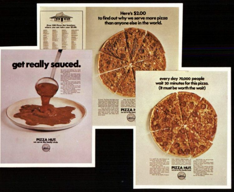 Vintage 70s Pizza Hut restaurants - 1970 (2)