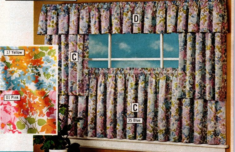 Vintage 70s machine washable tier curtains and toppers (3)
