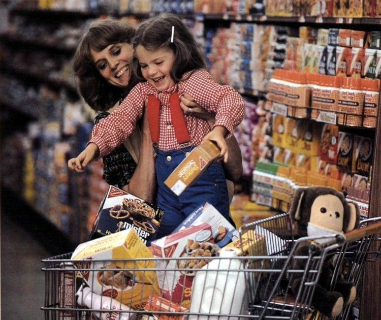 Vintage 70s supermarket scenes 1978