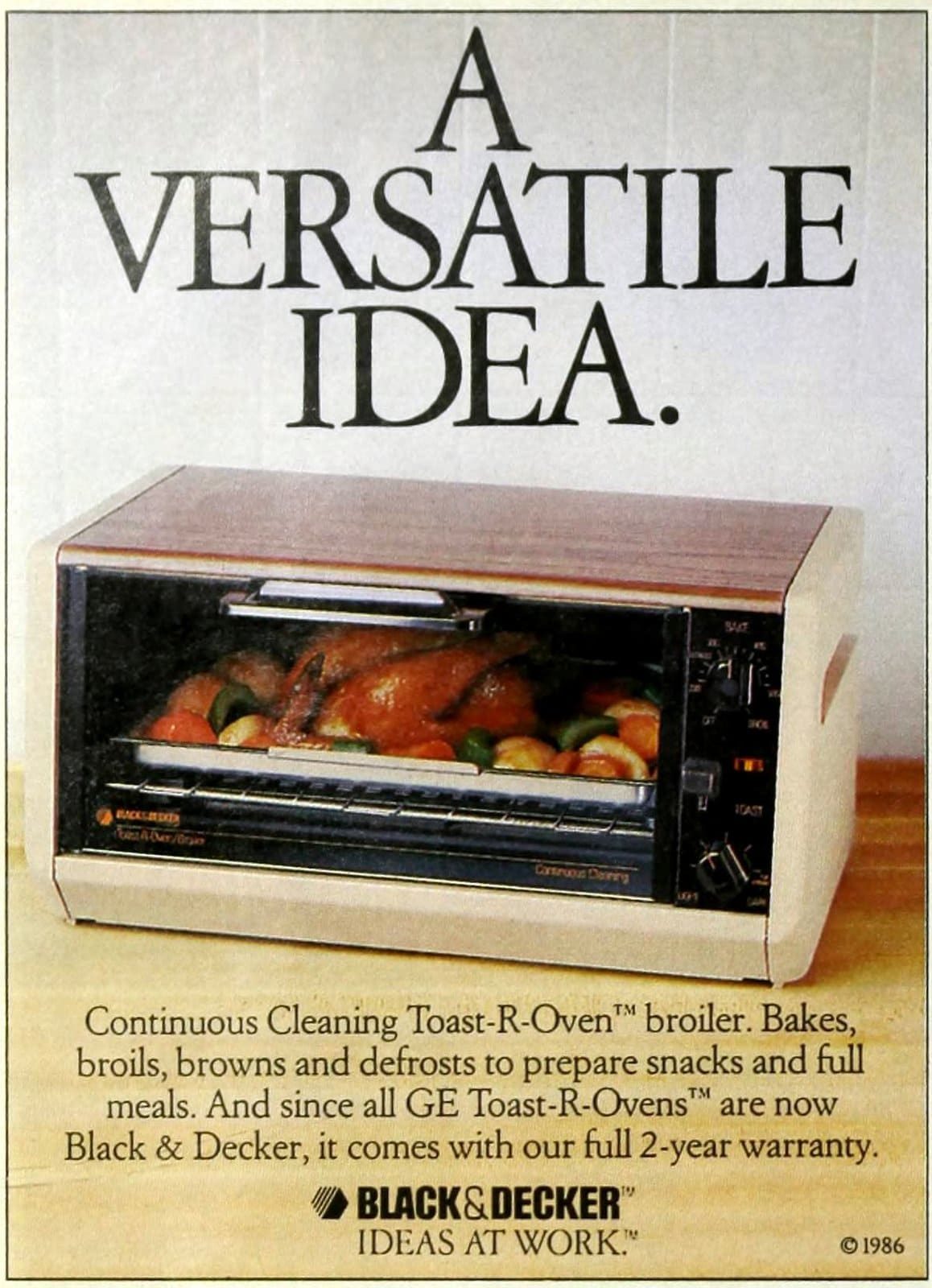 Vintage 80s Black and Decker toaster ovens from 1987 (2)