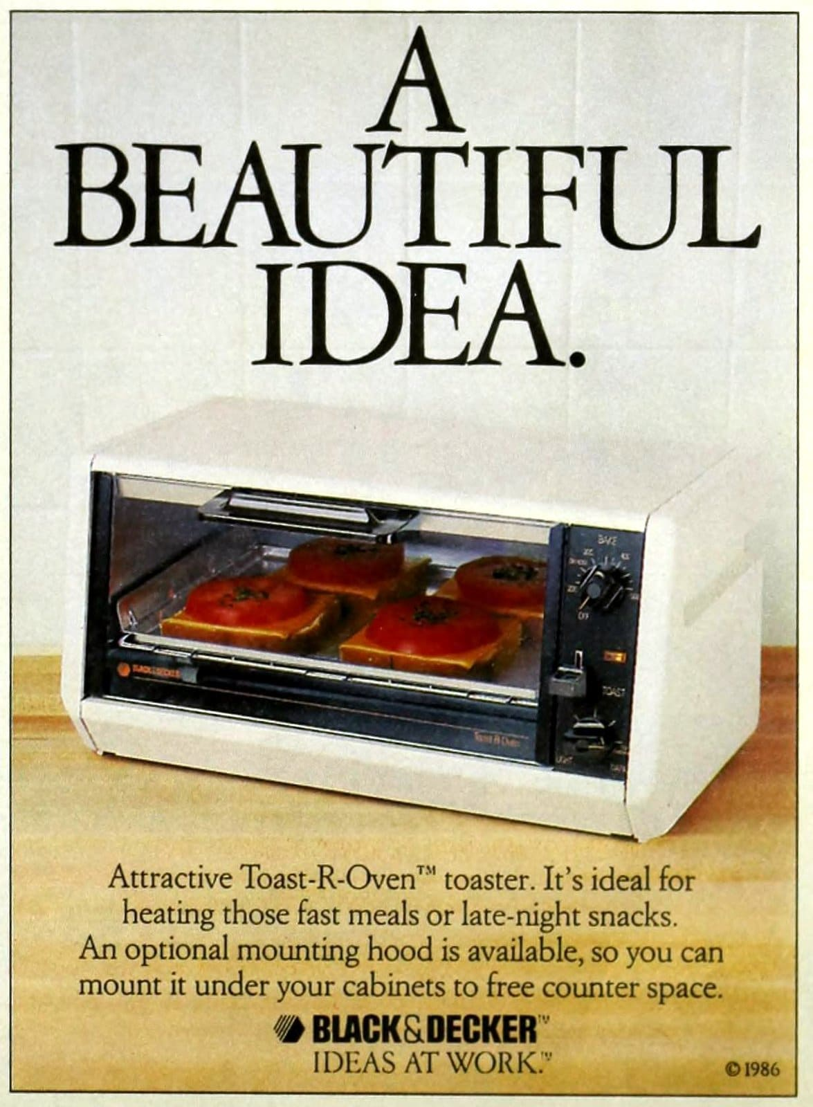 Vintage 80s Black and Decker toaster ovens from 1987 (3)