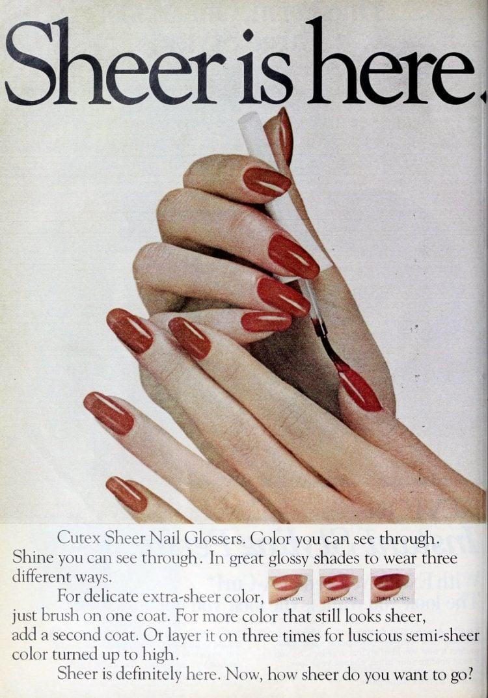 Vintage 80s Cutex Sheer Nail Glossers polish from 1981 (2)
