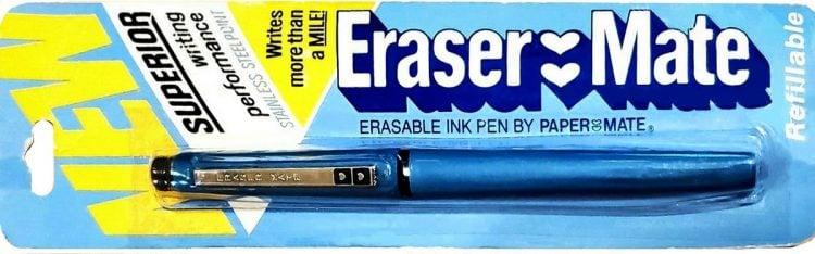 Vintage 80s Eraser-Mate erasable pens