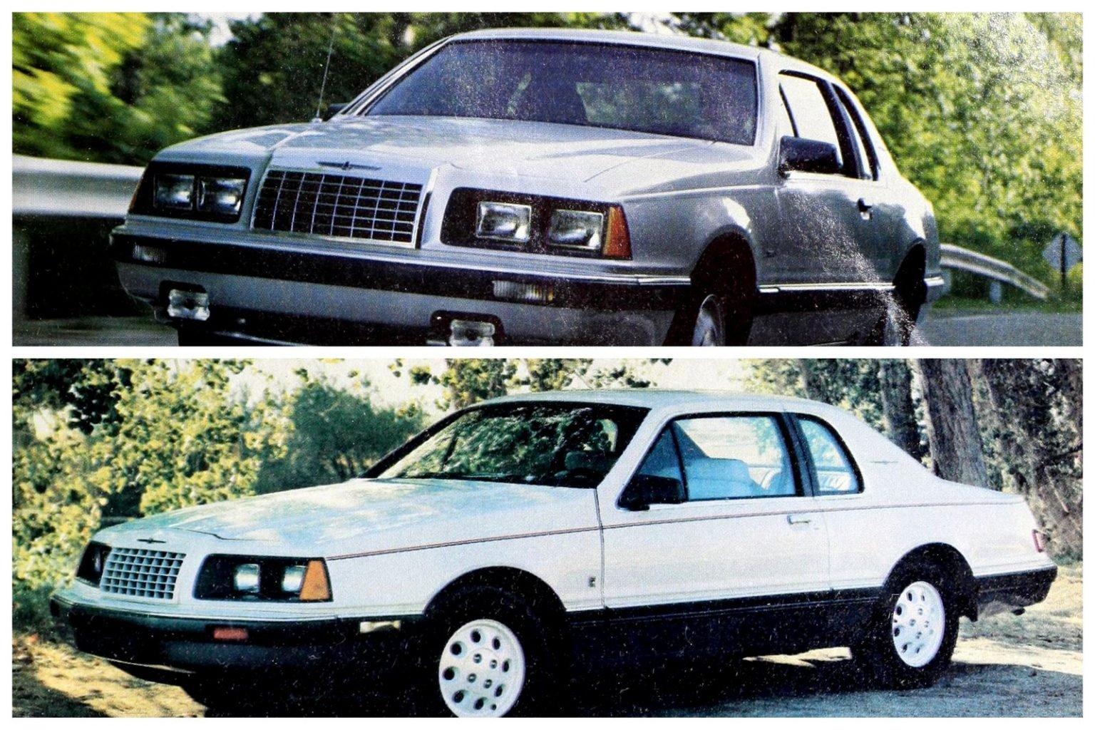 Vintage '80s Ford Thunderbird cars