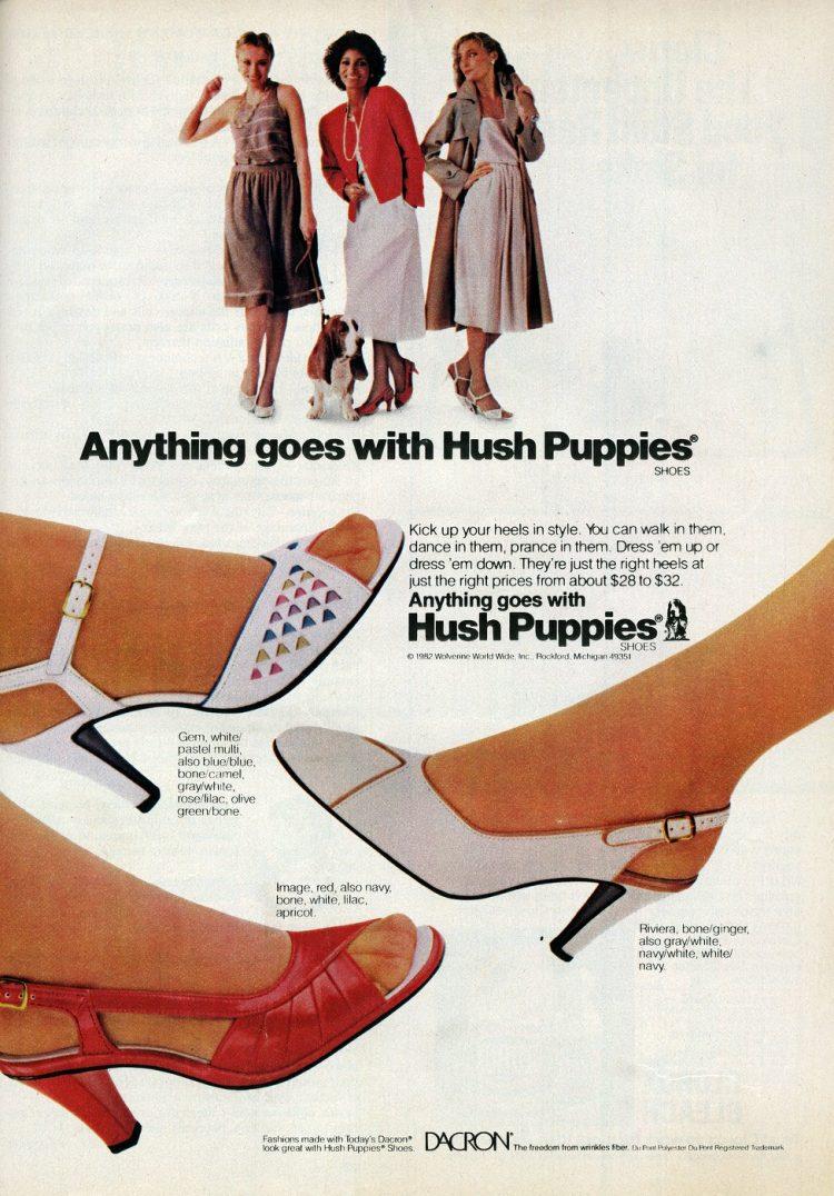 Vintage 80s Hush Puppies heels for women 1982