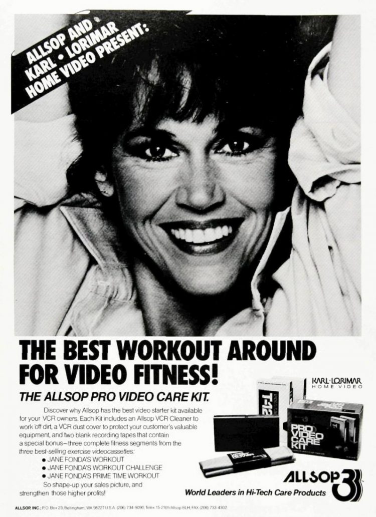 Vintage 80s Jane Fonda video workouts