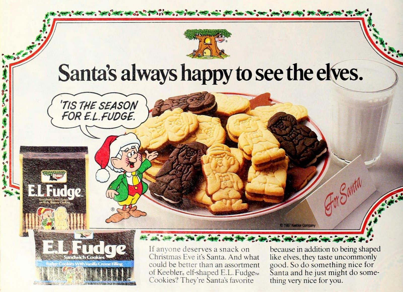 Vintage 80s Keebler EL Fudge cookies (1987)