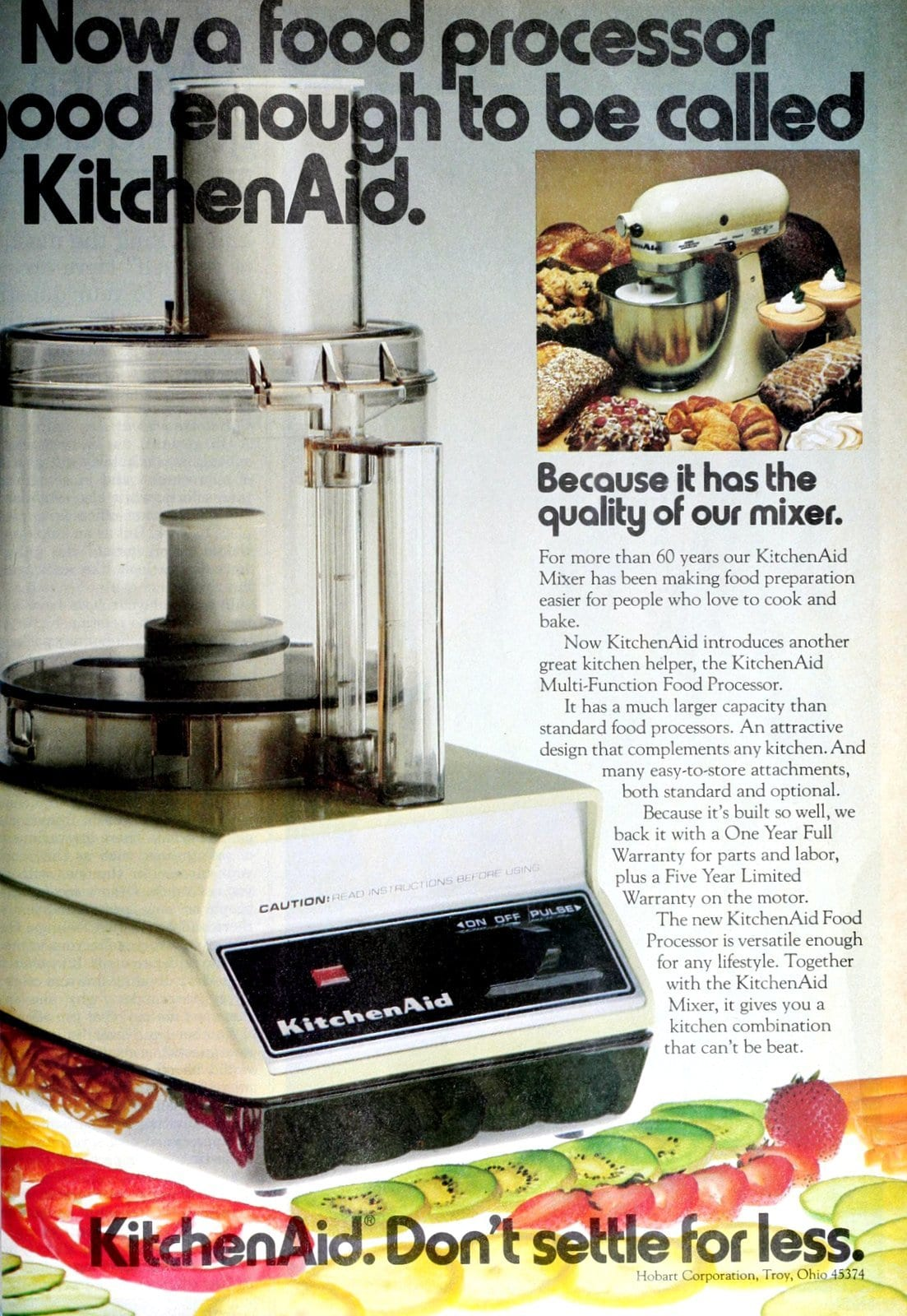 Vintage 80s Kitchen Aid Multi-Function Food Processor (1982)