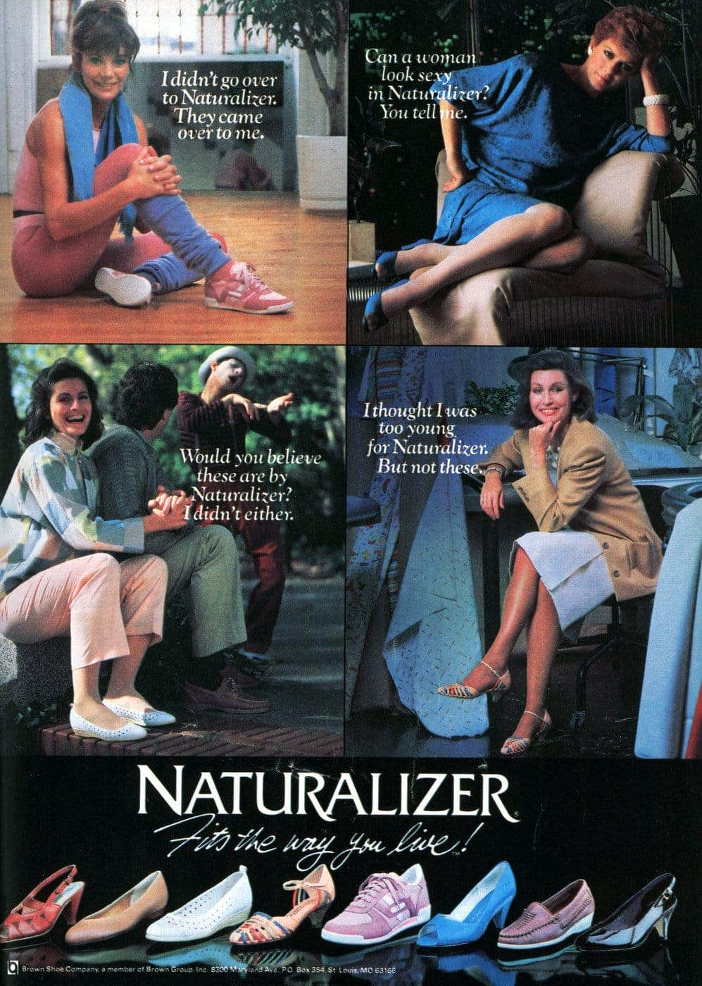 Vintage 80s Naturalizer shoes for women - heels and flats from 1985