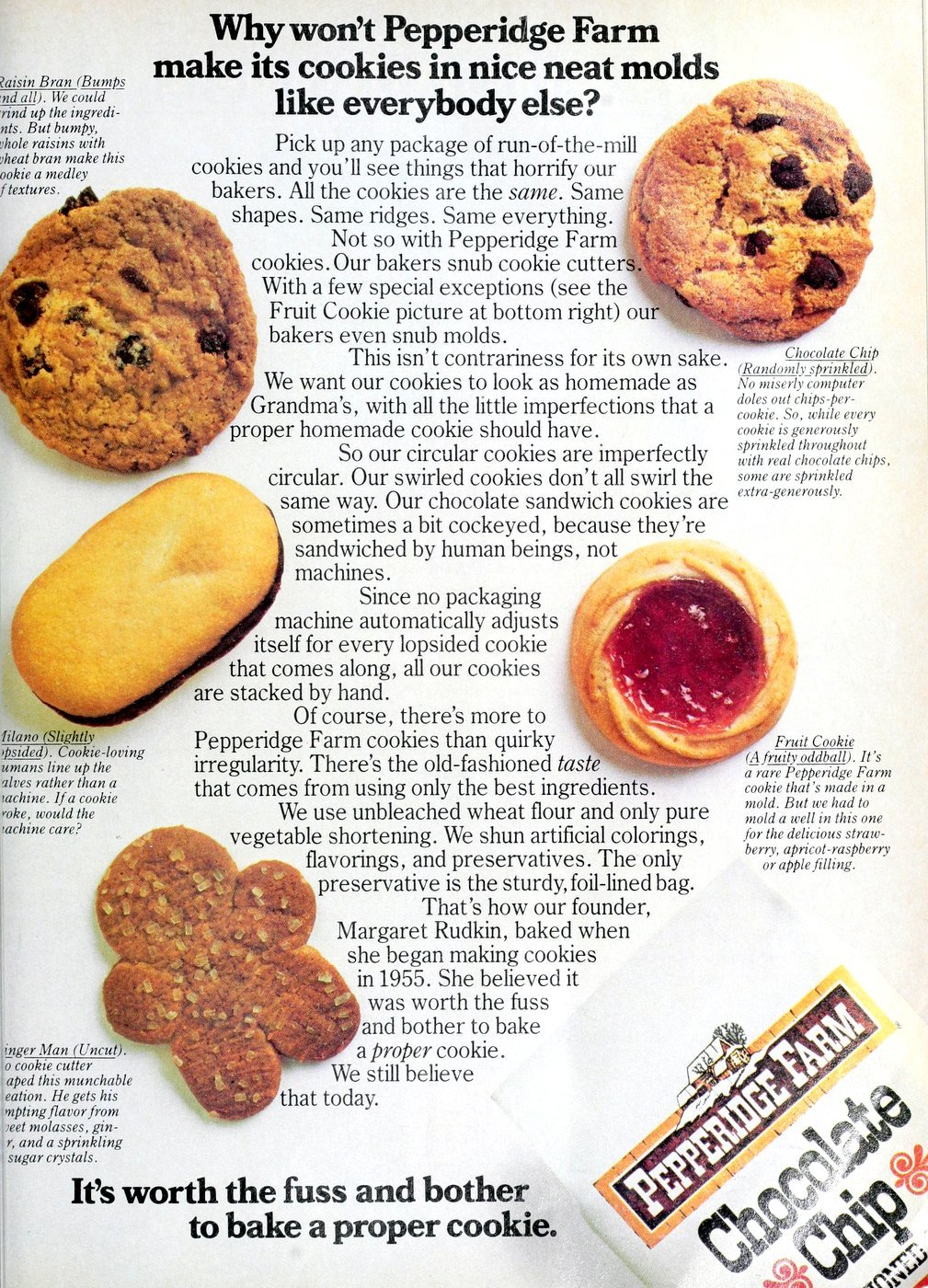 Vintage 80s Pepperidge Farm cookies (1983)