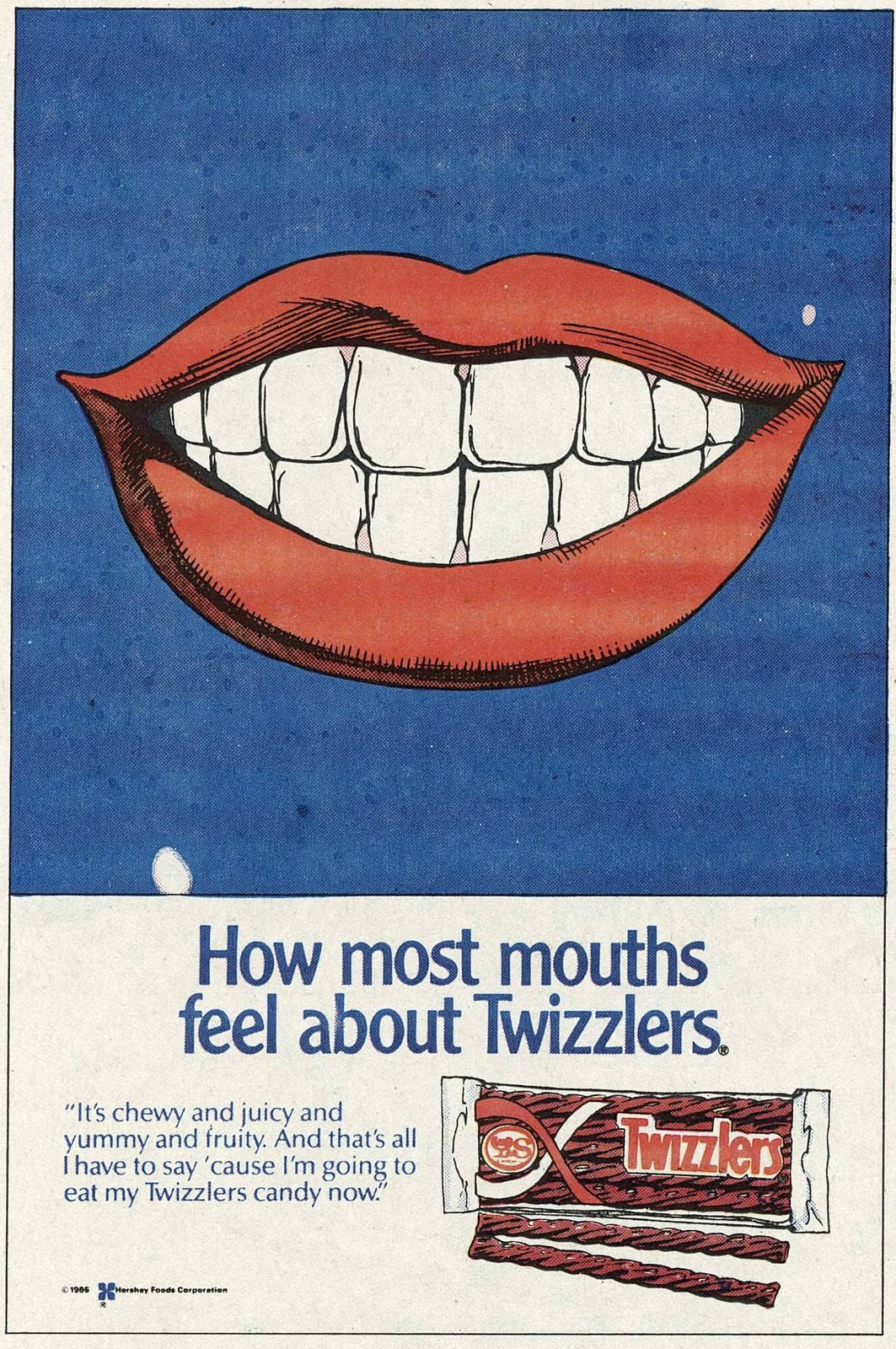 Vintage 80s Twizzlers candy licorice (1986)