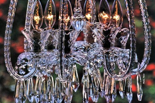 Vintage 80s Waterford crystal and chandeliers