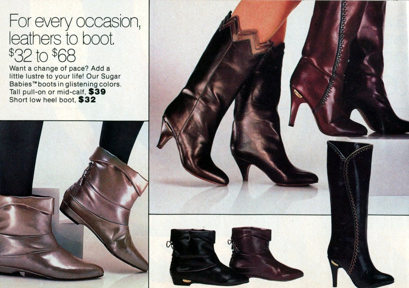 Vintage 80s boots for women (1)