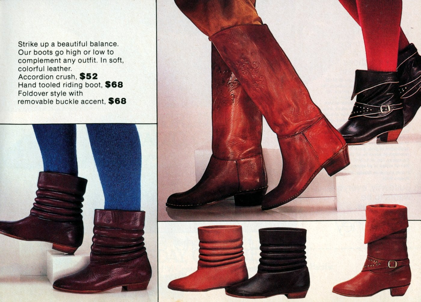 Vintage 80s boots for women (2)