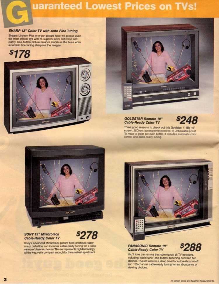 Vintage 80s color TV sets and TV monitors (2)