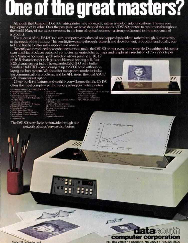 Vintage 80s dot matrix printer (1982)