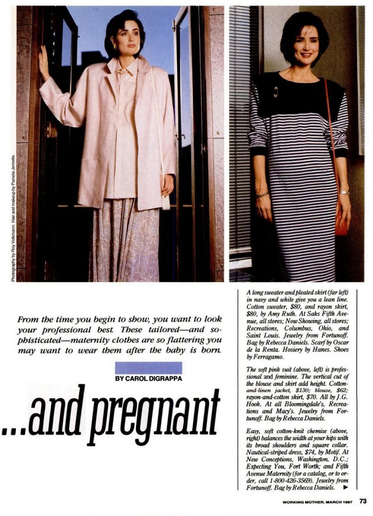 Vintage 80s maternity clothing (1)