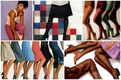 Vintage 80s pantyhose, nylons & tights came in lots of awesome colors and textures