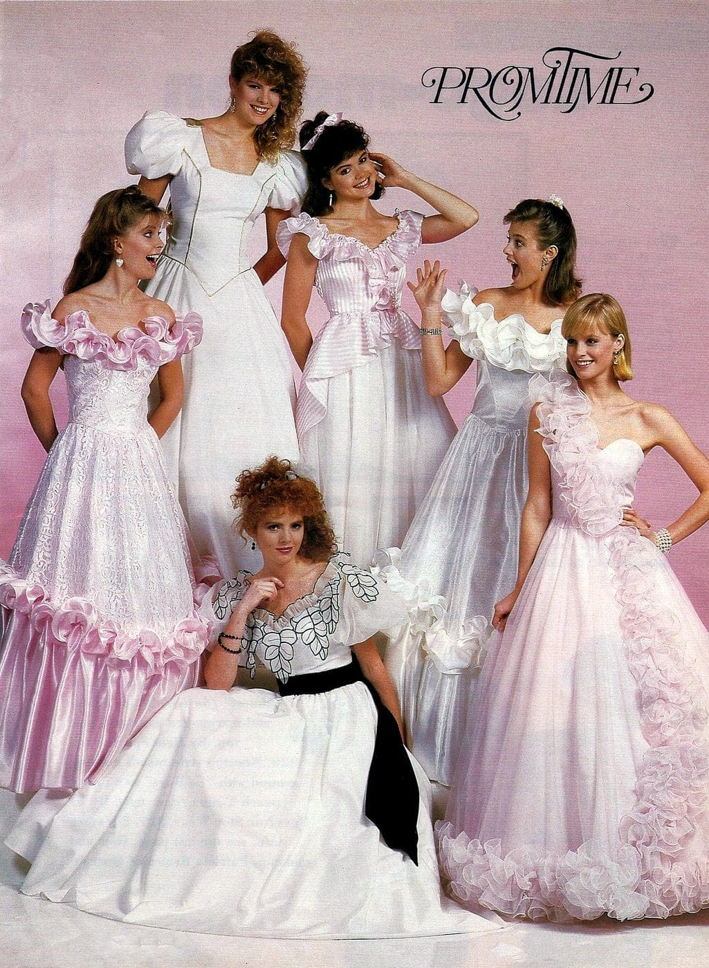 Vintage 80s prom dresses from Promtime