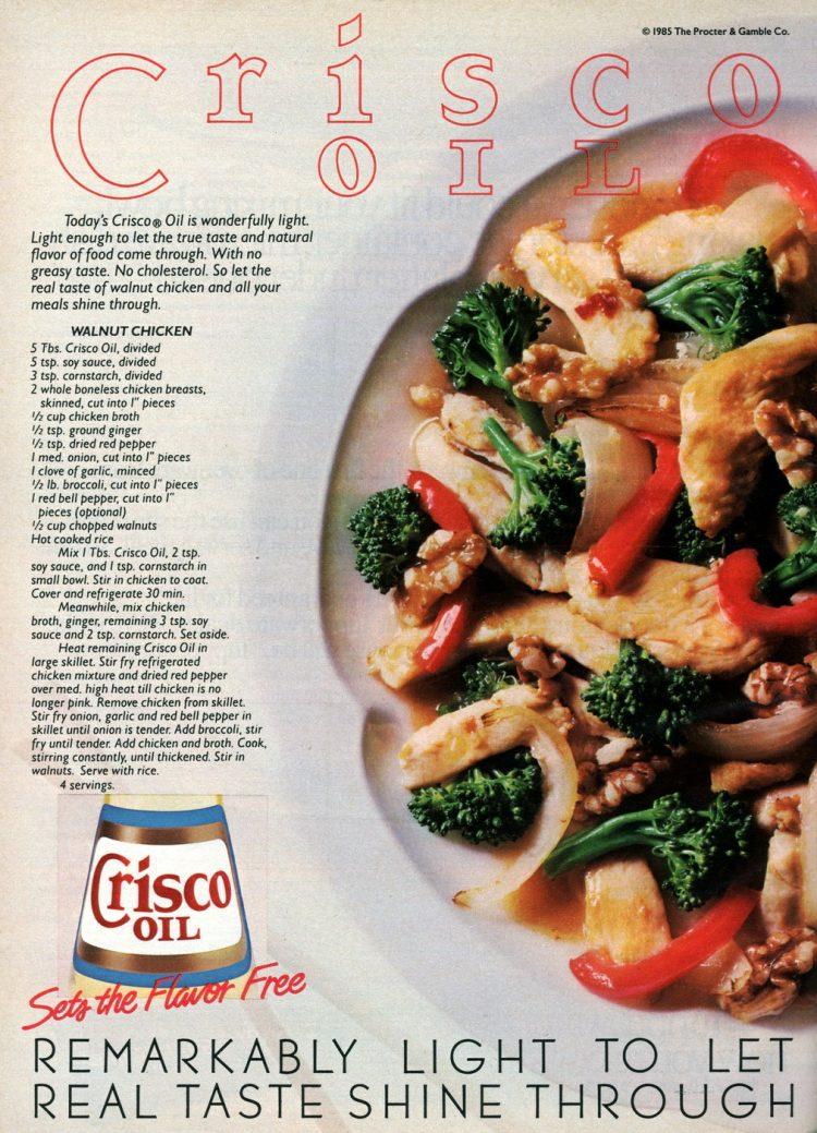 Vintage 80s recipe for Walnut chicken