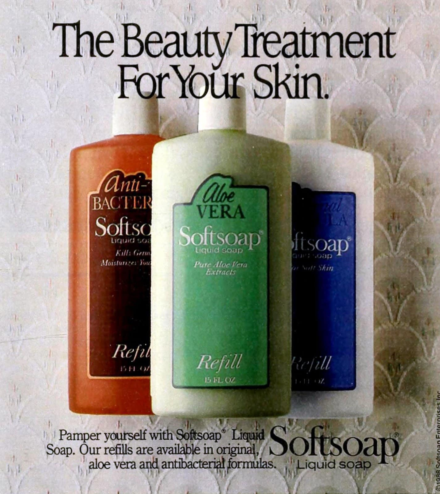 Vintage '80s Softsoap varieties (1988)