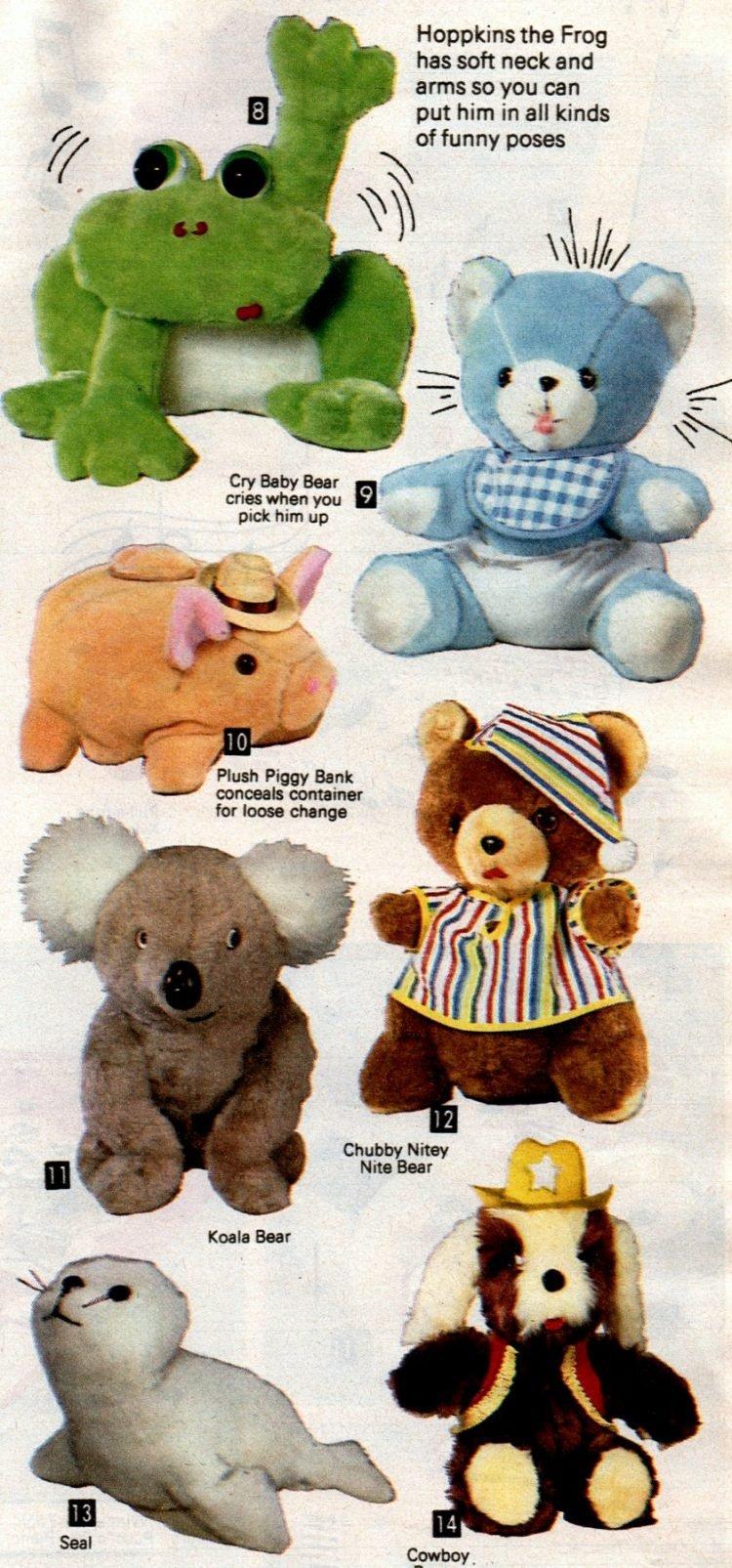 Vintage 80s stuffed animals