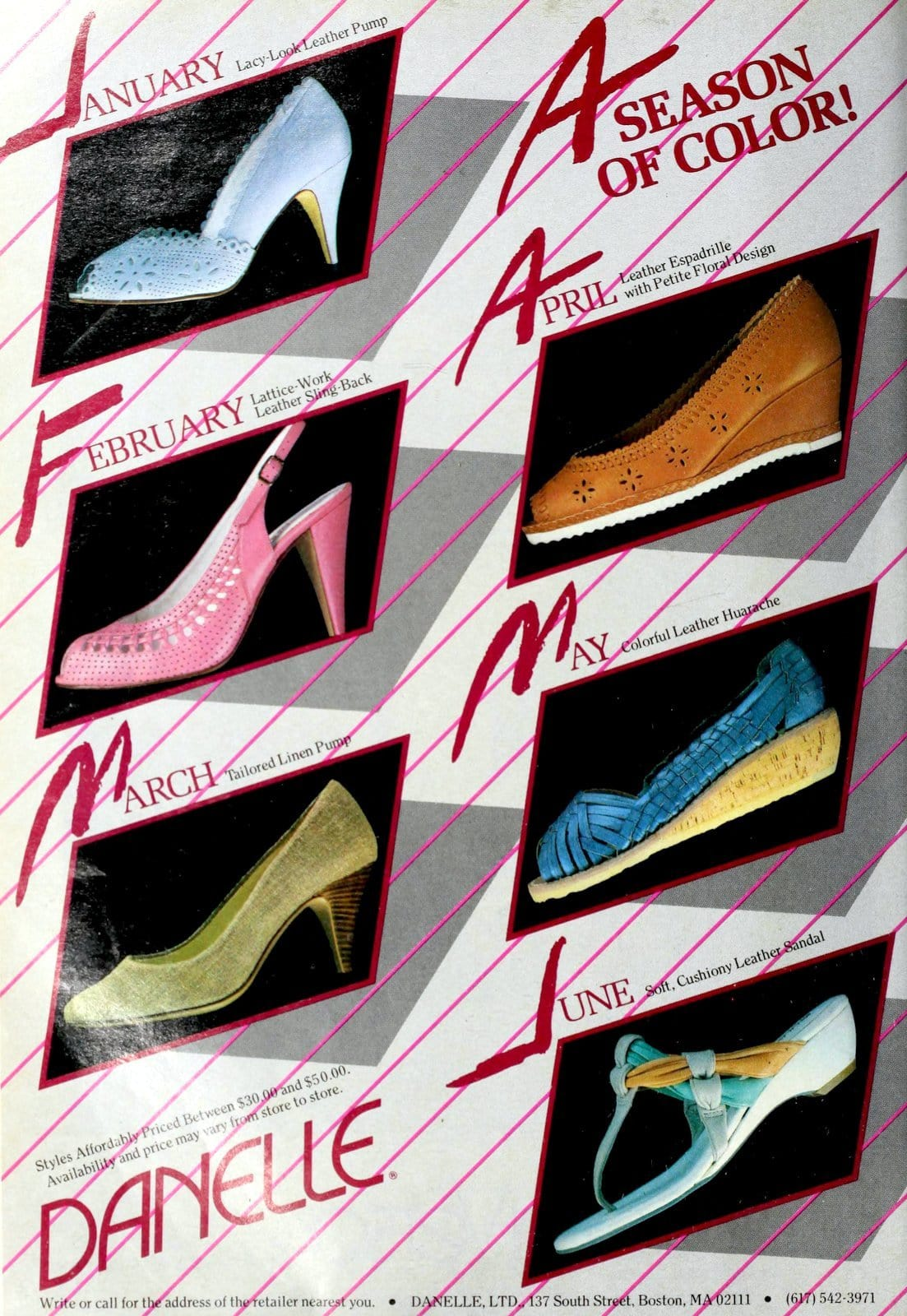 Vintage 80s women's shoes by Danelle (1984)
