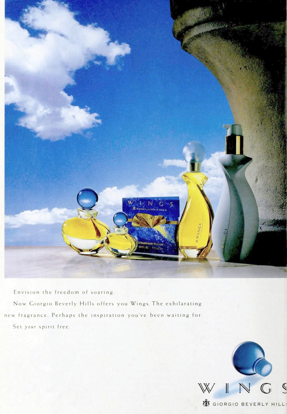 Vintage 90s Wings perfume from Giorgio Beverly Hills (1993)