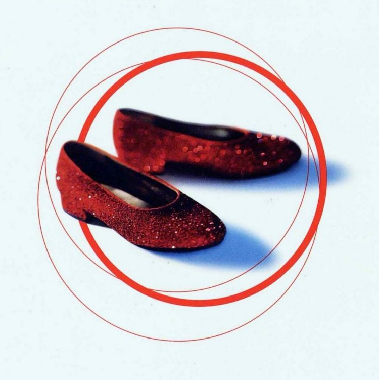 Vintage 90s target red glitter Wizard of Oz Dorothy shoes