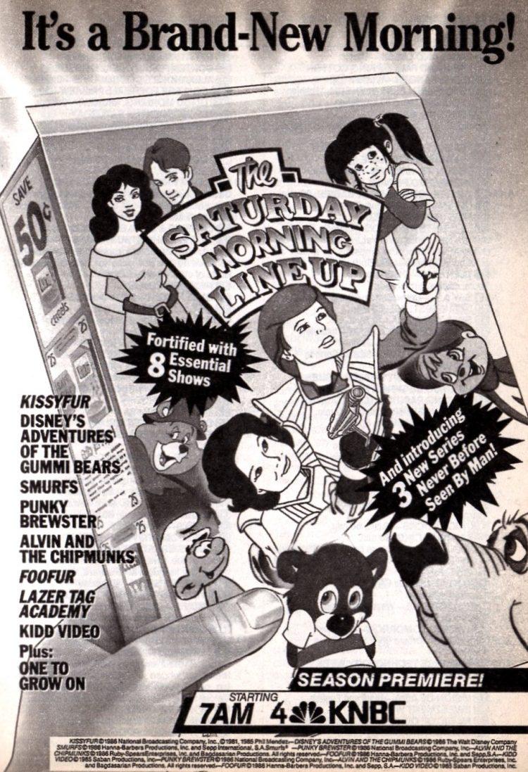 Vintage ABC Saturday morning TV cartoons from 1986