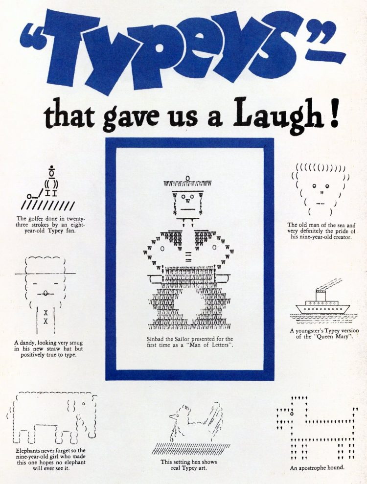 Vintage ASCII art from the 1930s Typeys (3)