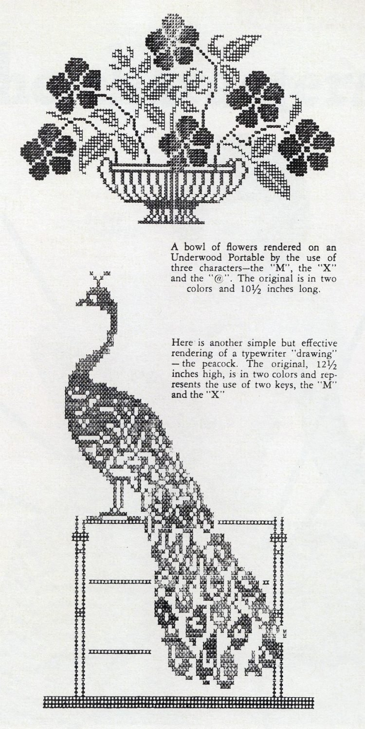 Vintage ASCII art from the 1930s Typeys (8)