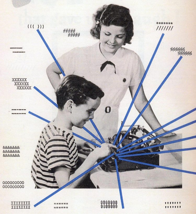 Vintage ASCII art from the 1930s Typeys, made with old manual typewriters (1)