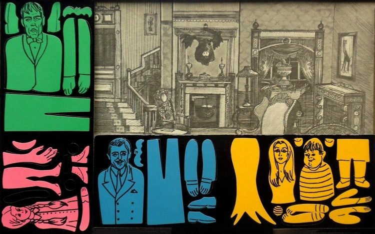 Vintage Addams Family Colorforms set