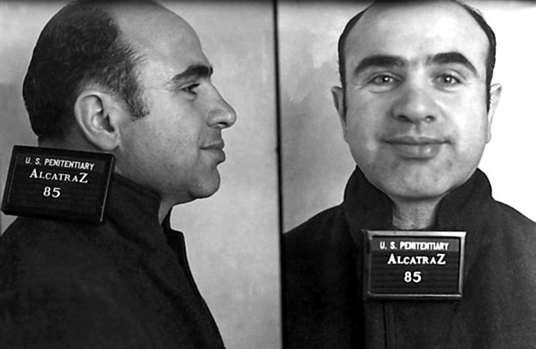 Vintage Al Capone Alcatraz mugshots